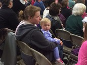 Budding Brewster Student at the Holiday Concert