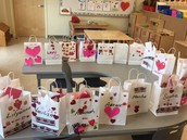 Valentine bags and exchanges