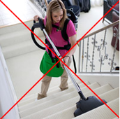 Do you carry heavy vacuums just to clean the stairs?