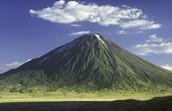 Voorbeeld van een vulkaan