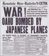 News headlines of the time period