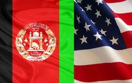 Afghanistan and U.S Flags