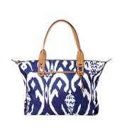 How does she do it bag, Navy Ikat