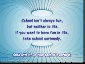School is ...