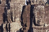 Stone Heads of Bodhisattva Avilokiteshvara