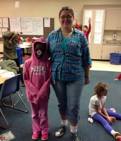 Mrs. Cook as Fern & Renee as Wilbur