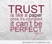 Putting your trust into someone