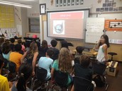 Students learning our brand new Hawk PRIDE song!