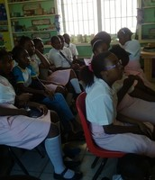 Students watching Promotional Video