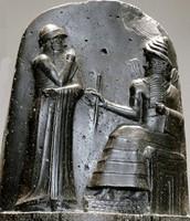 Hammurabi and a god.