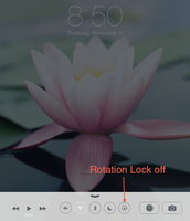 Rotation Lock in Control Center OFF
