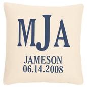Initials Pillow