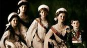 Olga, Tatiana, Maria, Anastasia, and Alexei Romanov.