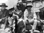 Sergio Leone with his cast