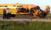 a school bus crash