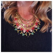 Beautiful statement necklaces - dress them up or down.
