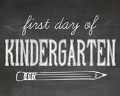 4. Going to Kindergarten for the first time