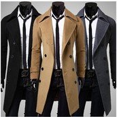 Full sleeves fashion men trench coat hot cotton