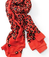 Red hearts print Scarf - Current stock