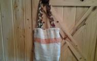 nice lightweight burlap bag or purse.
