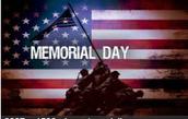 May 30th Memorial Day No School