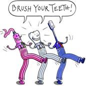 Es ridículo que tú no te cepilles los dientes.