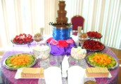 You can have a Colourful Fruit Palm Tree to go along with our already beautiful Chocolate Fountain set up!