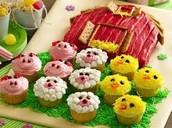 Animal Cupcakes.🐥🐷🐐
