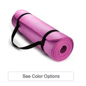 Pink Rollable Yoga Mat