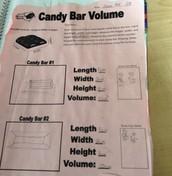 Candy bar volume
