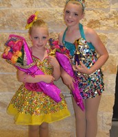 Me and my sister at our dance recital