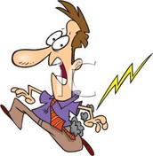 Pun: I was wondering how lightning works. Then it struck me.