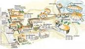 Die Plan von das Resort.