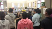 Students visit Maple Valley Public Library.
