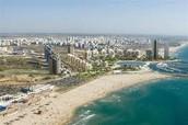 אשדוד וחוף הקשתות ממעוף הציפור