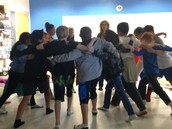 Group exercise during mindfulness!