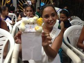Kids Show off Lion Puppets