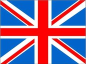 The British flag (The Union Jack)