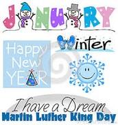 January, 2016 Calendar