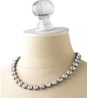Vintage Crystal Necklace $89