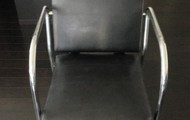 Leather and Chrome Sitting Chairs (2)