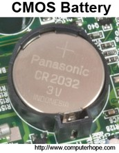 Motherboard component- CMOS battery