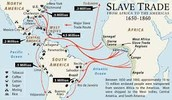 The African slave trade route