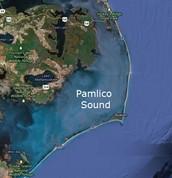 Pamlico Sound feeds into Core Sound