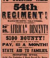 54th Massachusetts Volunteer Infantry enlistment poster