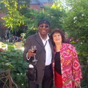 Toronto's own Joe Sealy and Anita just before Joe and Gloria's good friend and Broadway performer, Marti Stevens, delivered an amazing medley of Broadway hits in the salon.