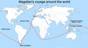 This is the route that Ferdinand Magellan took to reach Asia.