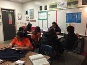Patricia Mejia's Classroom- Small Group Instruction at William Adams Middle School