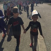 Penguin Walk with our 2nd grade buddies!