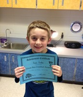 Kason was recognized for his awesome bus behavior!